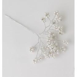 Mazzo 6 rametti con fiorellini +strass