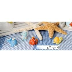 Animali marini in resina ass.4 H 4