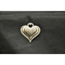 Ciondolo metallo cuore CM 3.2x3.2