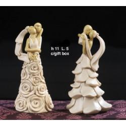 Sposi stilizzati resina ass.2 CM 11 con scatola