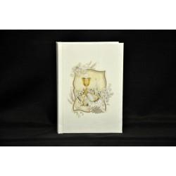 Vangelo bianco con immagine calice 10x14 H 2 con scatola