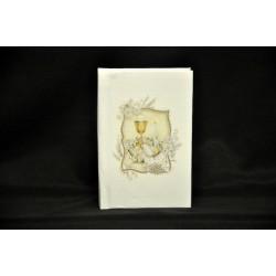 Vangelo bianco con immagine calice 11x8 H 2 con scatola