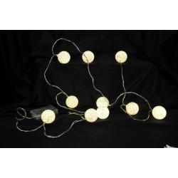 Filo MT 2 con 10 palline luce LED. Per uso interno.