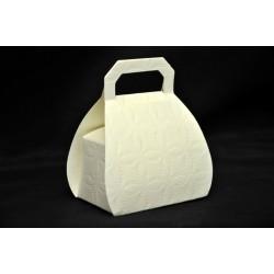 Scatolina cartoncino stampa trapuntata forma borsa CM 6x4 H 8