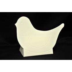 Scatolina cartoncino forma uccellino bianco CM 6.5x4 H 8.5