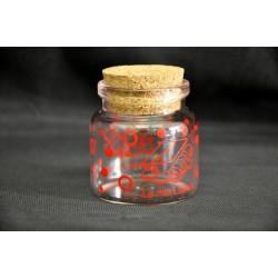 Barattolino vetro con tappo sughero H 5.5 Diam. 4.5