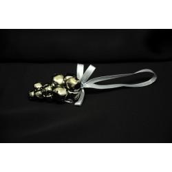Grappolo campanelli con nastro color argento. CM 6 (senza nastro)