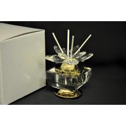 Profumatore vetro e cristallo. H 8 con scatola