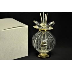 Profumatore vetro e cristallo con placca 50° H 14 con scatola