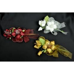 Fiore portaconfetti bianco o ambra 18 cm