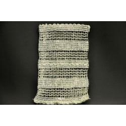 Sacchetto rete trama larga argento lurex CM 13x8