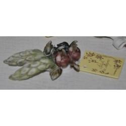 Tralcio ceramica con mele e punte di spiga