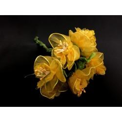 Mazzo 12 fiori gialli organza