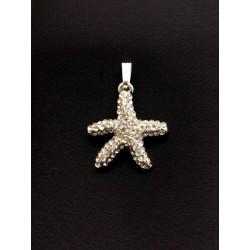 Ciondolo metallo stella marina con strass. CM 3