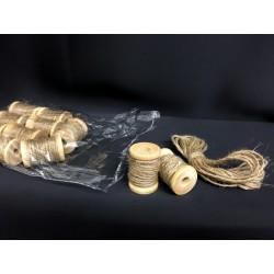 Set 12 mini rotolini corda da applicazione.