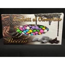 Lenti di cioccolato fondente colorate. KG 1