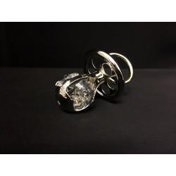 Ciuccio in silver con cristalli swarovsky. CM 6