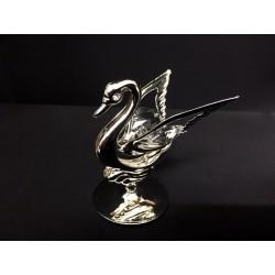 Cigno in silver con cristalli swarovsky. H 5