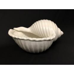 Conchiglia ceramica bianca CM 17x13 H 8