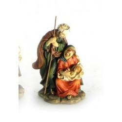 Sacra Famiglia in resina CM 7x6 H 12