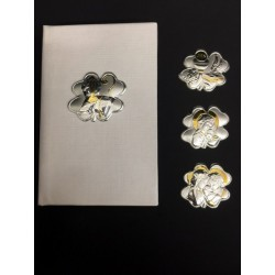 Vangelo con placca argento quadrifoglio 11x7