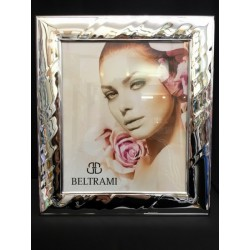 Portafoto argento con retro legno. CM 13X18