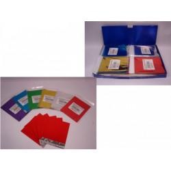 Set 6 buste colorate con adesivo. CM 19x15 Ass 6 colori