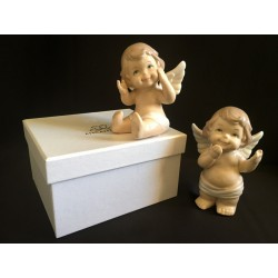 Angelo porcellana bianco con scatola ass.2