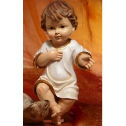 Gesù Bambino vestito in resina (steso) H 21