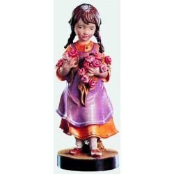 Bambina con fiori