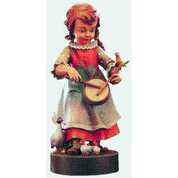 Bambina con tamburello