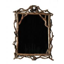 Specchio rettangolare in radici di bosco