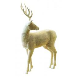 Cervo in legno di tiglio scolpito