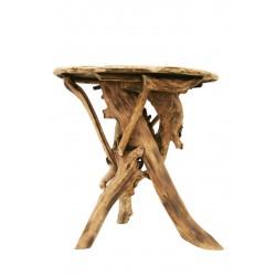Tavolo rotondo in radici di bosco