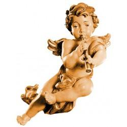 Angelo volante con clarinetto, scultura scolpita in legno