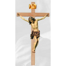 Corpo di Cristo su Croce Diritta scopita a mano