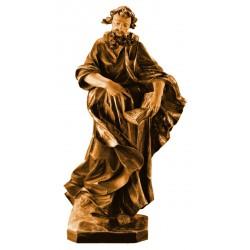 Sant Andrea con croce scultura in legno