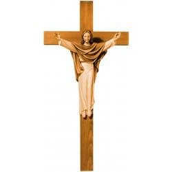 Cristo Rè su croce scolpito in
