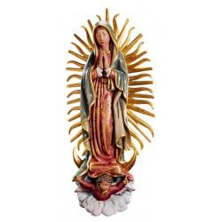 Madonna di Guadalupe statua scolpita di legno