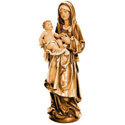Madonna del cielo figure scolpite di legno