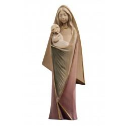Madre di tutti noi, figure moderne scolpite di legno