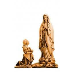 Madonna di Lourdes con Bernard, statue scolpite in legno