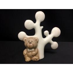 Albero vita porcellana con orsetto. CM 7