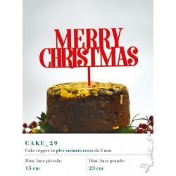 Cake topper in plexiglass rosso satinato, MM 3
