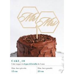 Cake topper in legno di betulla. 3 MM