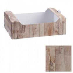 Cassetta cartoncino wood. CM 19.5x14.5 H 6
