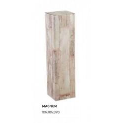 Scatola porta bottiglie in cartoncino wood. CM 11x11 H 39
