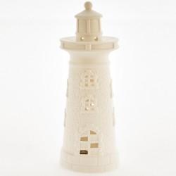 Faro ceramica bianca opaca con luce LED. CM 21