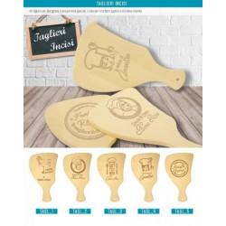 Tagliere legno con incisione personalizzata. CM.37x21.5 H 2