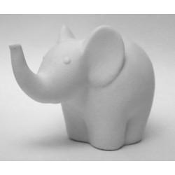 Elefante porta anelli in ceramica, scatola pvc porta confetti e con scatola. CM 13x7 H 7.5
